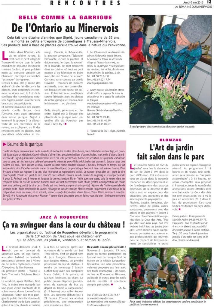 activité culturelle du Domaine Monts et Merveilles